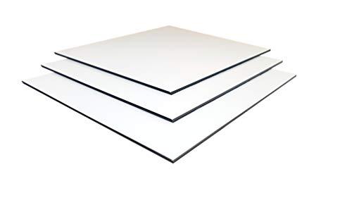 Plancha de aluminio compuesto DILITE blanco, 3 mm, varios cortes (3 mm, 610 x 375 mm)