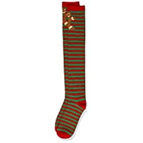 Urban Classics Damen Christmas Overknees Socken, red/Green, 39-42