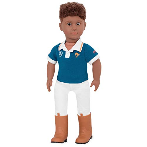 Our Generation Doll by Battat- Tyler 18' Boy Regular Non-Posable Equestrian Horse Riding Doll- for...