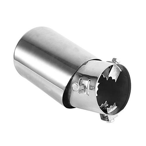 Keenso 62mm Universal Hinten Auto Auspuff Schalldämpfer Rohr End Tipp Edelstahl Auspuff Endrohr Trim Tipp