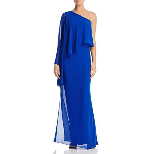 Laundry by Shelli Segal Damen Women's One Shoulder Popover Gown Formales Abendkleid, Vibrant Blue, 30