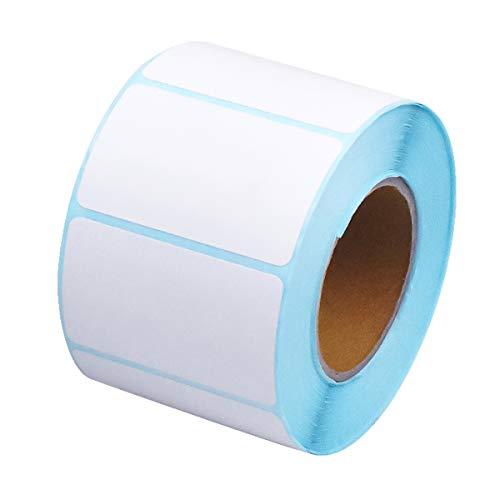 1 Rollo de 700 Etiquetas Adhesivas Blanco Imprimibles Termicas Etiquetas Grande Superficie Mate Etiquetas Autoadhesivo de Dirección Fecha Precio para Impresoras Oficinas Cocinas Hogar 50 * 30 mm