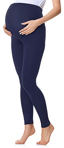 Be Mammy Leggings Premaman Lunghi BE20-230 (Blu Navy, L)