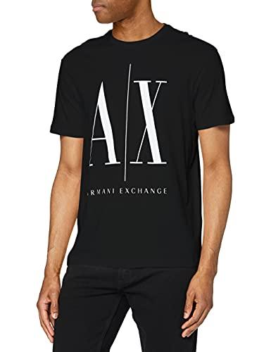 ARMANI EXCHANGE Logo Icon Tee T-Shirt, Nero (Black 1200), Medium Uomo