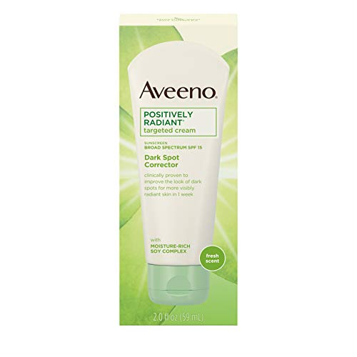 Aveeno Positively Radiant Targeted Cream Dark Spot Corrector with SPF 15 Sunscreen &...