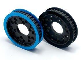Square Aluminum Front 1WAY Pulley 37T (Blue) Tamiya TA05 & Dorikon SP for STA-337W