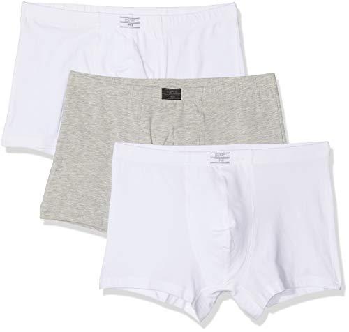 ESPRIT Auburn 3shorts Boxer, Blanc (White 100), X-Large (Lot de 3) Homme