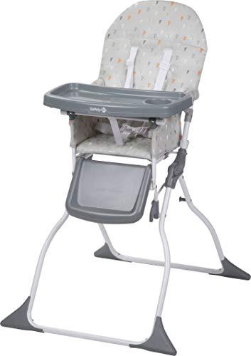 Safety 1st Chaise Haute pour bébé Keeny Compacte et Pliable, Nettoyage Facile Warm Grey