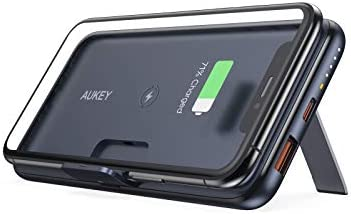 USB C Power Bank AUKEY Wireless Portable Charger 10000mAh with Foldable Stand 18W Power Delivery product image