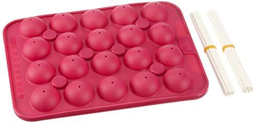 Birkmann 250550 CakePop Baker 25x18x4 cm en Silicone, Pourpre, 18 x 25 x 4 cm