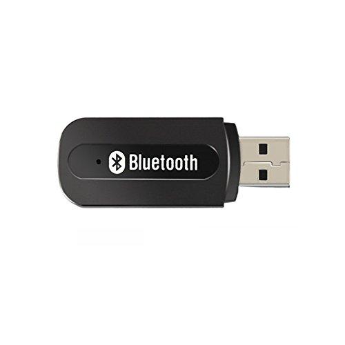Andven Bluetooth Empfänger für Auto Stereo, Tragbare USB 3.5 mm AUX-Audio Adapter, für alle Heim HiFi-Anlagen, Autoradio, Sound Docks(Android und iOS Apple kompatibel)