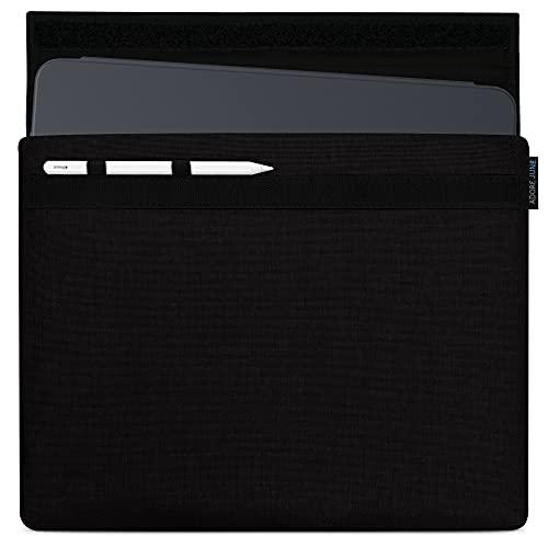 Adore June 12,9 Zoll Classic Schwarz Tasche kompatibel mit iPad Pro 12.9 2021 2020 mit Apple Pen Halterung