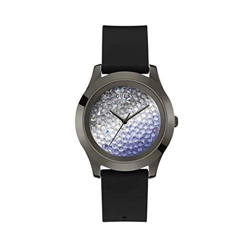 Guess Reloj Analógico para Mujer de Cuarzo con Correa en Silicone W1223L4