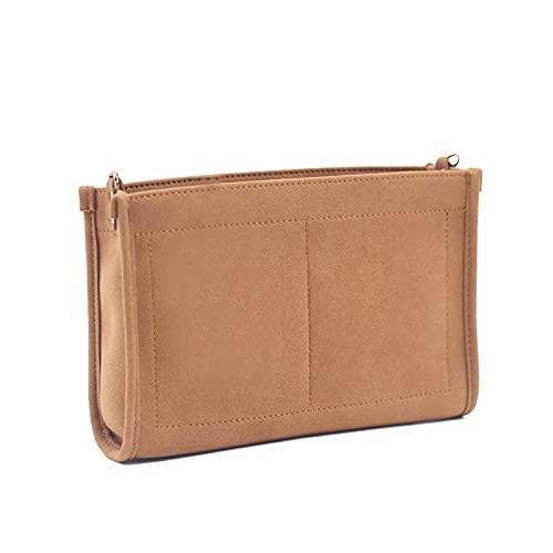 Toiletery Pouch 26 Handtaschen-Organizer Geldbörse Veranstalter einfügen Fit Toilettentasche 26 19 aus hochwertiger Mikrofaser mit goldfarbenen Schnallen