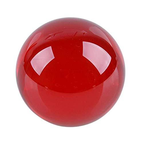 Tubayia 50mm Kristallkugel Glaskugel Fotokugel Fotografie Requisiten Dekoration Geschenk (Rot)