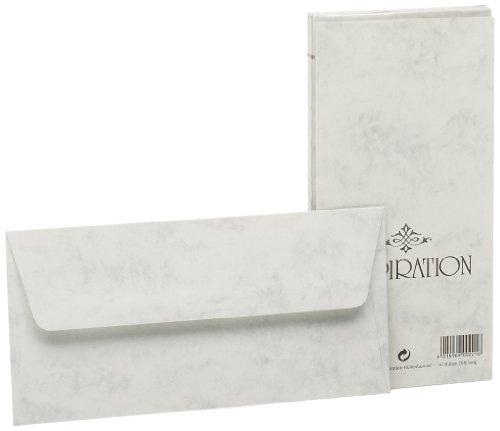 Rössler 20320814 - Inspiration - Briefumschlagpack 20/DL  m. Sf., grau