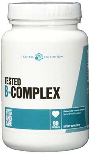 Tested Nutrition B-Complex essentieller Vitamine Eiweiß Synthese - 90 Kapseln