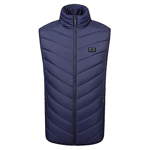 LPWCAWL - Gilet riscaldato per uomo e donna, 3 velocità di controllo della temperatura, 11 zone di riscaldamento per lavoro all aperto, escursionismo, campeggio gilet blu royal XL