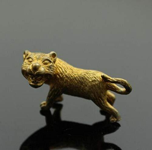 RSRZRCJ Figuritas Decorativas Esculturas De Cabeza Bustos Escultura Zodíaco Animal Tigre Colgante De LatónBotón De Llave Colgante Estatua De Animal Pequeño Escritorio