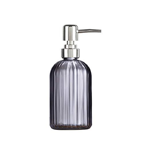 ZANZAN Dispensador de jabón dispensador de jabón con bomba de acero inoxidable, dispensador de jabón de calidad premium para loción de cocina, jabón de baño, bomba de jabón de 7 colores (color gris)