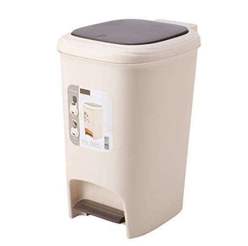 Toho Cubo de Basura de Plastico Cubo de Pedal Bote de Basura con Tapa Tapa DiseñO Silencioso Tacho de Basura Basura Papelera de Reciclaje Por Dormitorio Cocina A / 15L