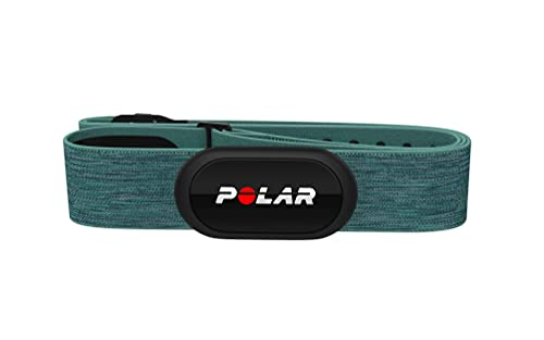 Polar H10 Heart Rate Monitor Chest Strap - ANT + Bluetooth, Waterproof HR Sensor for Men and Women (NEW) , Turquoise, M-XXL: 26-36 inches (Renewed)