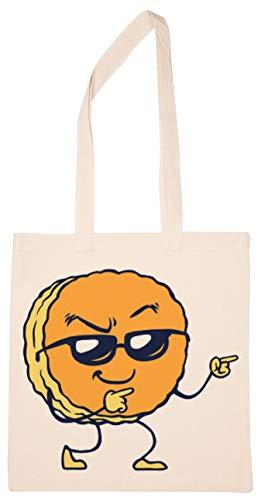 Enigmae Galleta Coll Y De moda Reutilizable Compras Tienda de Comestibles Algodón Bolsa Reusable Shopping Bag