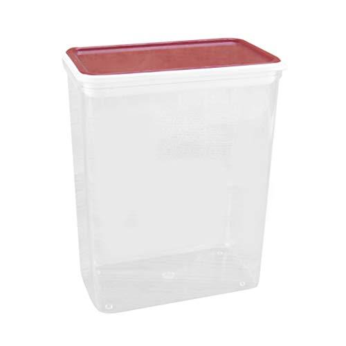 Angoily Gran Recipiente de Alimentos Hermético Transparente de Cereales Caja de Granos de Nueces Transparentes Botella de Almacenamiento de Harina de Cocina Contenedor de Almacenamiento
