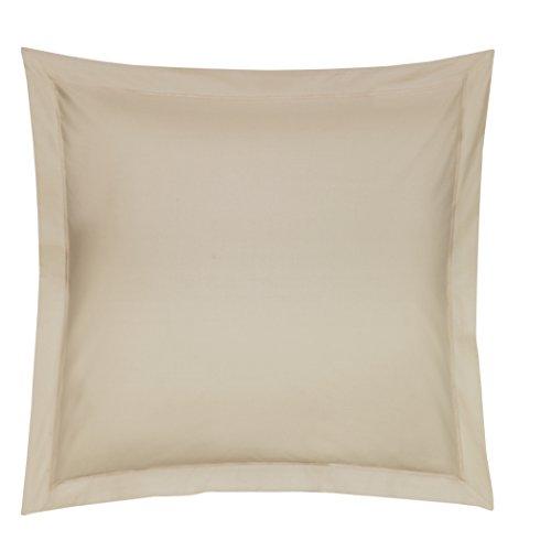 Blanc des Vosges Uni Satin Taie Coton Chanvre 65x65 cm
