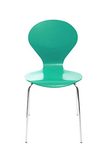 Konferenzstuhl Stuhl Rondo von Danerka in Grün