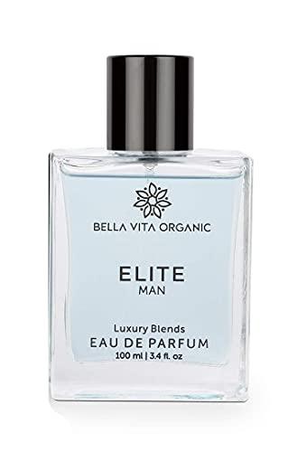 Glamorous Hub Bella Vita Perfume Orgánico Elite para Hombres de Larga Duración con Aroma Dulce de Madera, 100 Ml