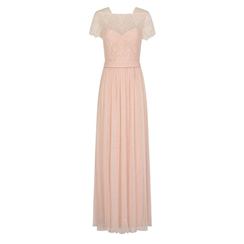 Little Mistress Womens/Ladies Lace Overlay Maxi Dress (4) (Nude)