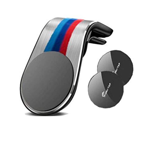 TIANQ Magnetische KFZ-Handyhalterung für BMW E36 E46 E60 E90 F10 F20 F30 M1 M2 M3 M4 M5 M6 X1 X3 X5 X6 GT Z4, 360 ° Armaturenbrett-Handyhalter für Ca, Silber