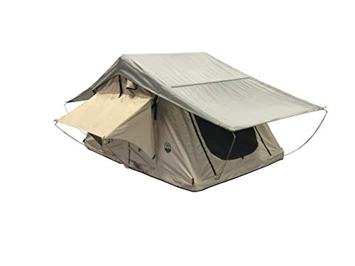 TMBK 3 Person Roof Top Tent with Rain Fly Tan Base & Green Rainfly
