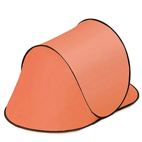 FTW Carpa De Playa para Acampar A Prueba De Agua Portátil Al Aire Libre Tienda De Campaña Abierta para Acampar Pesca Senderismo Al Aire Libre Automático Portátil Instantáneo (Color : Orange)