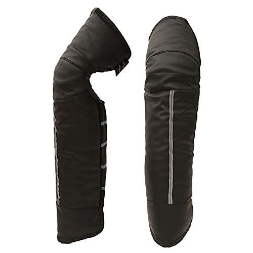 Cojines de rodilla de la motocicleta Invierno Cálido Coche Eléctrico Coche Caliente Rodilla Pista de rodilla Impermeable Almohadillas Esquí Patinaje Equipo Protector (Color : A)