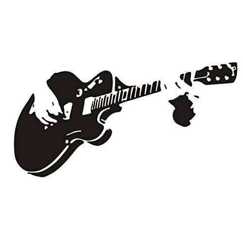 Weilifang wasserdichte Gitarre PVC-Wand-Aufkleber DIY Wand-Aufkleber PVC-Gitarre Wandtattoo Tattoo-Kunst-Wand Schlafzimmer Küche Office Shop Dekoration