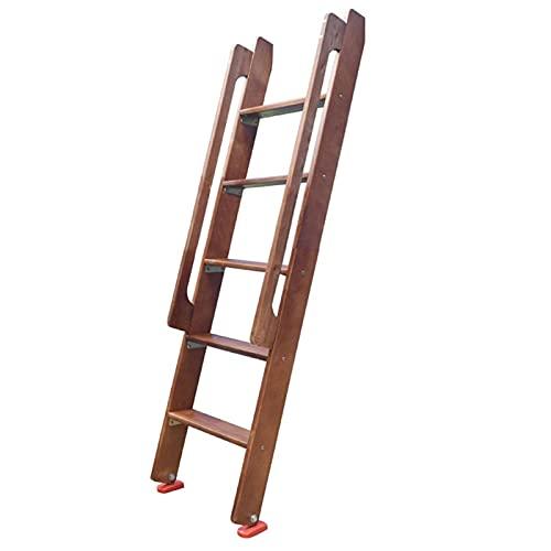 LXLA- Escalera De Madera Tipo Loft Con Asa De Agarre, Marrón Escaleras Para Literas Gemelas Para Biblioteca RV Dormitorio Infantil Dormitorio, Cama Doble Elevada (Size : 1.5m/5ft tall)