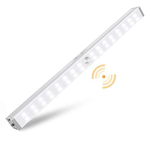 Closet Lights Battery Operated, LOFTer 32-LED Wireless Wardrobe Light with 2 Sensor Modes, Portable Motion Sensor LED Lights for Closet, Under Cabinet, Cupboard, Hallway, Kitchen Stick Night Lighting