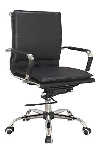 IVOL bureaustoel Siena - zwart - draaibaar, in hoogte verstelbaar en robuust
