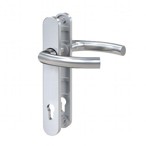 Basi® SR 4100 PZ Schmalrahmen-Garnitur - Langschild rund, Drücker-Garnitur, Drücker L-Form