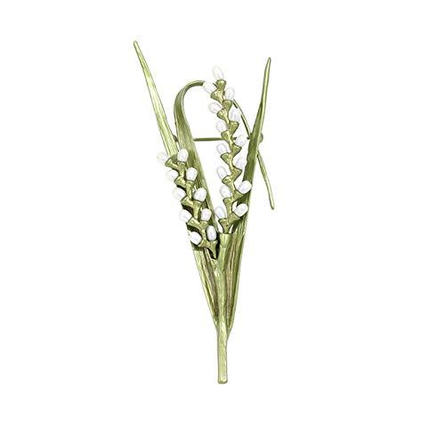 Broche de mujer Elegante de la perla del arroz Broche de alta temperatura de cocción de barniz sin decolorarse broche del Pin de la solapa de regalos de la joyería de las mujeres del partido del anive