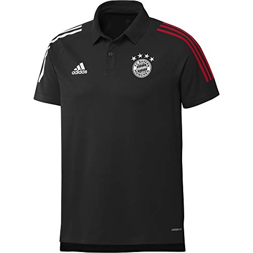 adidas Herren 20/21 FC Bayern Polo Poloshirt, Black/Fcbtru, S