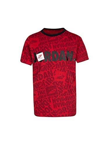Nike Jordan - Camiseta de niño Jumpman By Splash roja, rojo, 10-12 Años