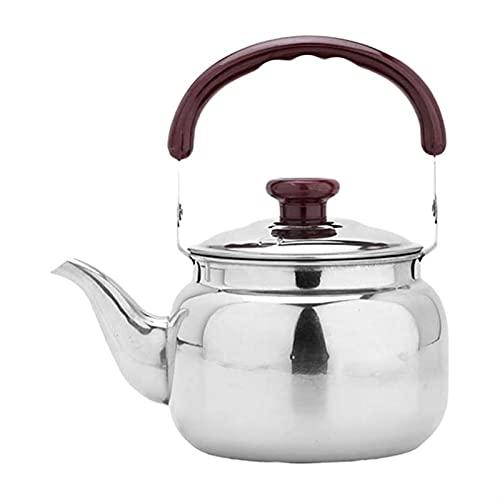 Wh1t3zZ1 Tetera Tetera de Acero Inoxidable Cocina Tetera Tetera Estufa Metal Pot...