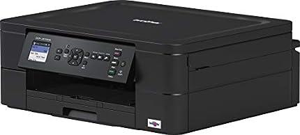 Brother DCP-J572DW - Equipo Multifunción de Tinta (A4, Wi-Fi, Impresión Dúplex), USB; WiFi; Wi-Fi Direct; Conexión móvil y Cloud, Negro
