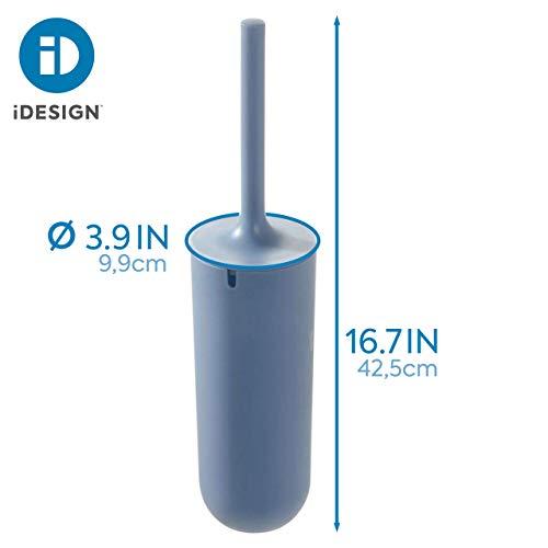 iDesign Escobilla de baño con soporte, juego de WC estrecho de ...