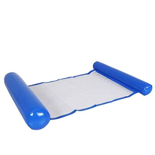 chebao Inflatable Floating,Water Hammock, Swimming Pool Inflatable Floating Bed Floating Chair, Water Sofa,, Inflatable Floating Row Pool Air Mattresses Foldable Hammock (Dark Blue)