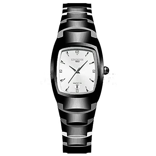 CloverGorge Reloj de Cuarzo Cuadrado de Moda y Simple para Mujer, Resistente al Agua, Adecuado para Profesionales de Negocios y Amantes de la Moda