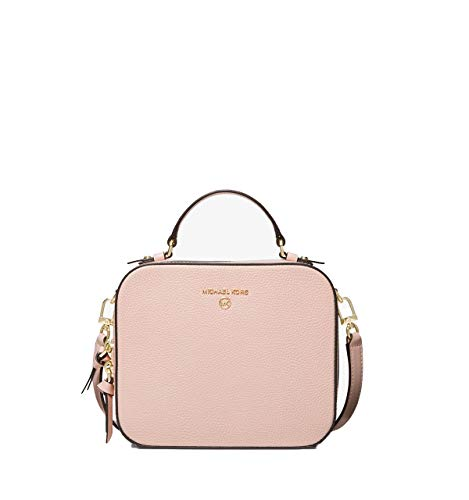 Pebbled leather Gold-tone hardware Removable shoulder strap Handle Zip around fastening